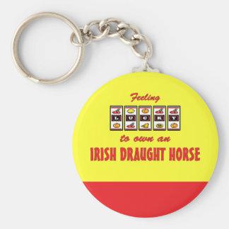 Lucky to Own an Irish Draught Horse Fun Design Keychain