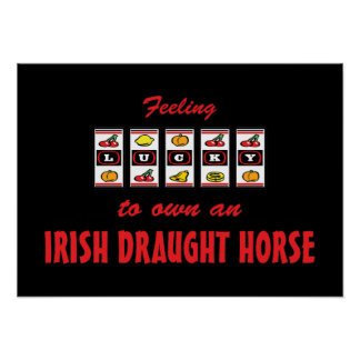 Lucky to Own an Irish Draught Horse Fun Design Poster