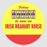Lucky to Own an Irish Draught Horse Fun Design Stickers
