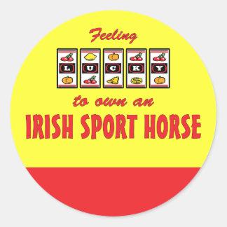 Lucky to Own an Irish Sport Horse Fun Design Classic Round Sticker