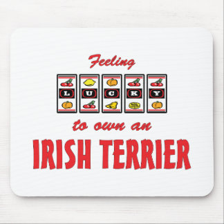 Lucky to Own an Irish Terrier Fun Dog Design Mouse Pad