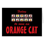 Lucky to Own an Orange Cat Fun Cat Design Card