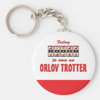 Lucky to Own an Orlov Trotter Fun Horse Design Keychain