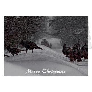 Lucky Turkey Christmas Card