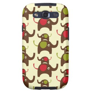 Lucky two elephants cute elephant nature pattern samsung galaxy SIII case