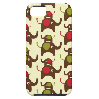 Lucky two elephants elephant cute nature pattern iPhone 5 cover