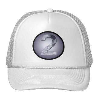 Lucky Two Lunar Circle Crest Mystic Number Trucker Hat