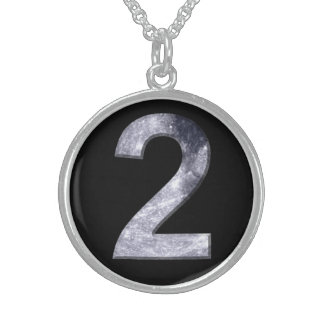 Lucky Two Lunar Design Black Necklace