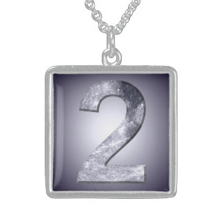 Lucky Two Lunar Symbol Mystic Number Sterling Silver Necklace