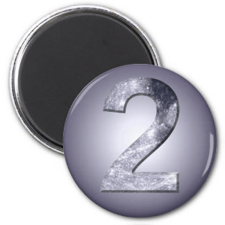 Lucky Two Lunar Symbol Numerology Number Magnet
