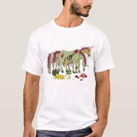 Lucky Unicorn Zombies T Shirt