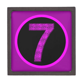 Lucky Vibrational Seven Circle Crest Gift Box
