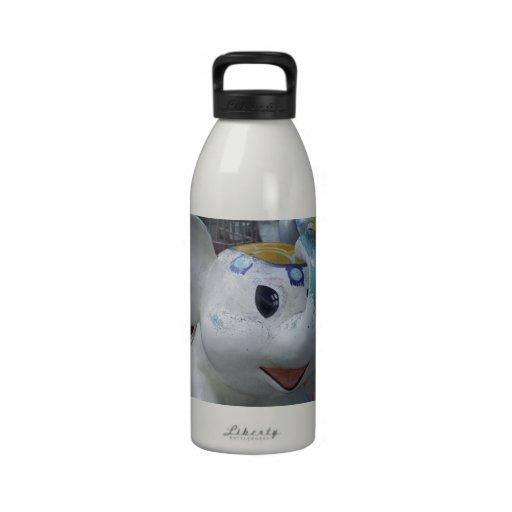 Lucky Vintage Amusement Park Elephant  Ride Water Bottles