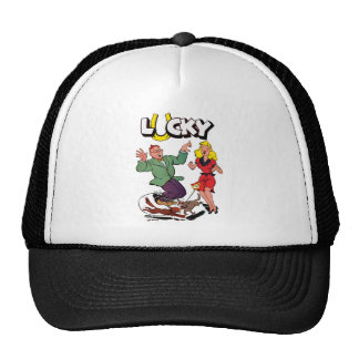 Lucky - Vintage Comic Book Cover Hats