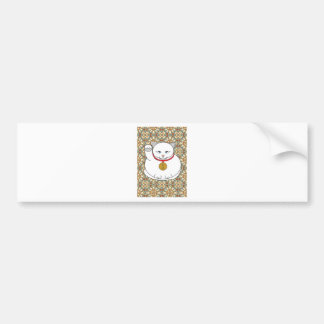 Lucky White Cat Bumper Stickers