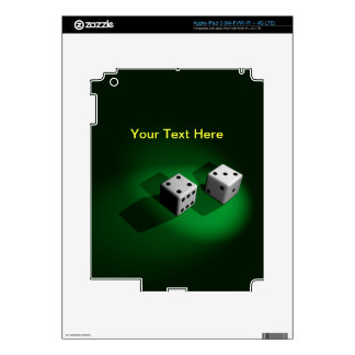 Lucky White Dice Tablet Skin iPad 3 Decals