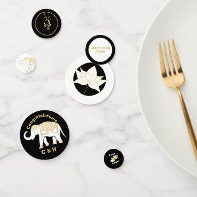 Lucky White Thai Elephant Personalized Confetti