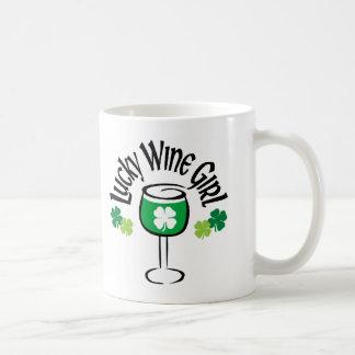 Lucky Wine Girl4 Coffee Mugs