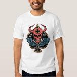 Lucky Winged Maltese Devil Skull of Spades T-shirt