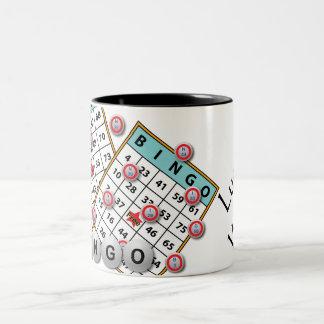 Lucky Winner Bingo Theme Coffee Mug
