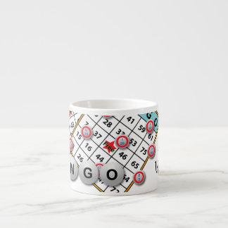Lucky Winner Bingo Theme Espresso Cup