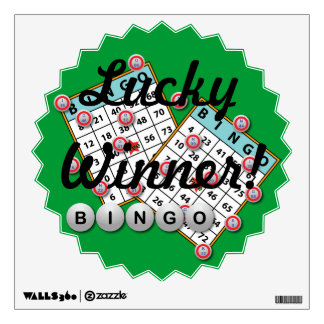Lucky Winner Bingo Theme Wall Sticker