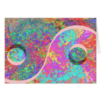 Lucky Yin Yang : YinYang GoodLuck Symbols Card