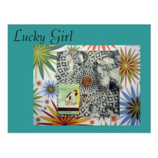 Lucky You, Lucky Girl Postcard