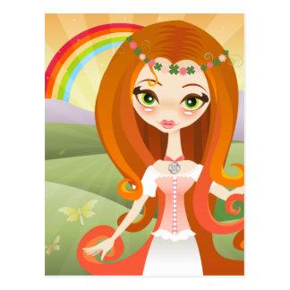 LuckyVelusa Irish Beauty Postcard