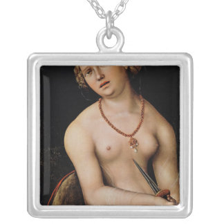 Lucretia, 1538 silver plated necklace