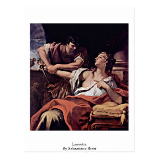 Lucretia By Sebastiano Ricci Postcard