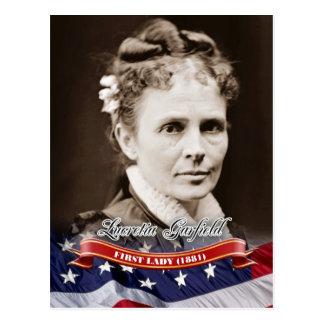 Lucretia Garfield, primera señora de los E.E.U.U. Tarjeta Postal