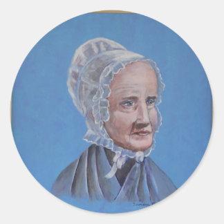 Lucretia-Mott Classic Round Sticker