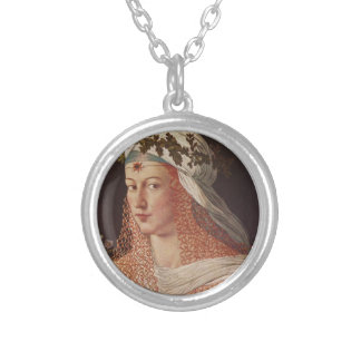 Lucrezia Borgia Round Pendant Necklace