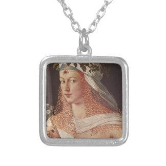 Lucrezia Borgia Square Pendant Necklace