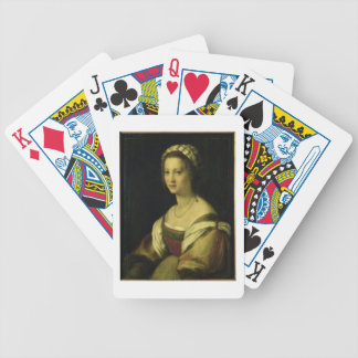 Lucrezia di Baccio del Fede, the Artist's Wife, c. Bicycle Playing Cards
