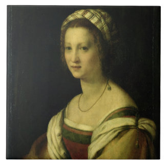 Lucrezia di Baccio del Fede, the Artist's Wife, c. Ceramic Tile
