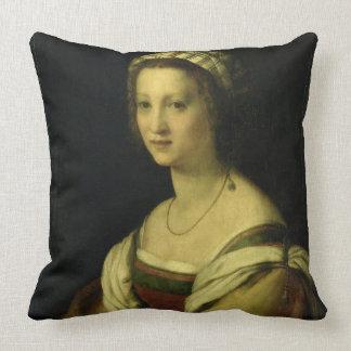 Lucrezia di Baccio del Fede, the Artist's Wife, c. Pillow