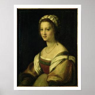 Lucrezia di Baccio del Fede, the Artist's Wife, c. Poster