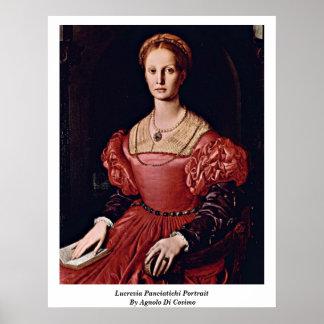 Lucrezia Panciatichi Portrait By Angelo Bronzino Poster