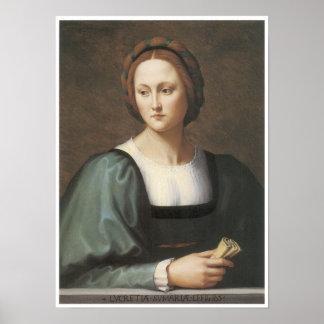 Lucrezia Sommaria, c. 1530 Portrait of a Lady Poster