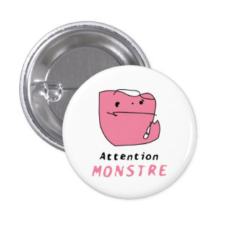 Luc's Monstre pink button