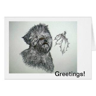 Lucy--A Wheaten Greetin' Greeting Card