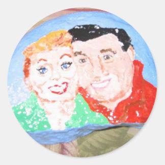 Lucy And Desi Classic Round Sticker