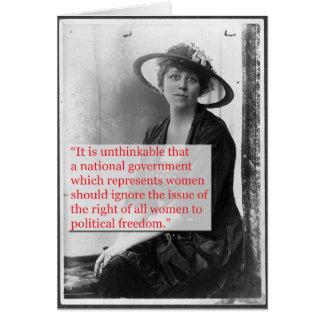 Lucy Burns Suffragist Card