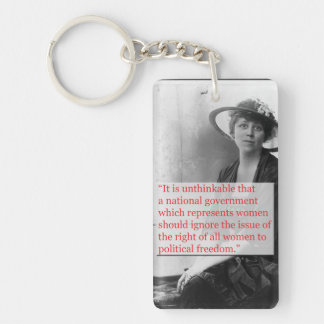 Lucy Burns Suffragist Double-Sided Rectangular Acrylic Keychain