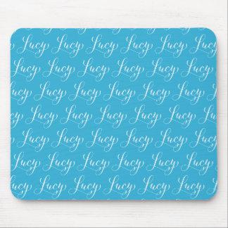 Lucy - diseño moderno del nombre de la caligrafía mouse pads