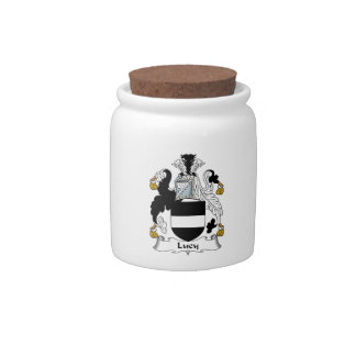 Lucy Family Crest Candy Jars