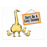 Lucy Goosey Postcard