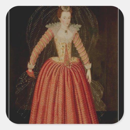 Lucy Harrington, condesa de Bedford Pegatina Cuadrada